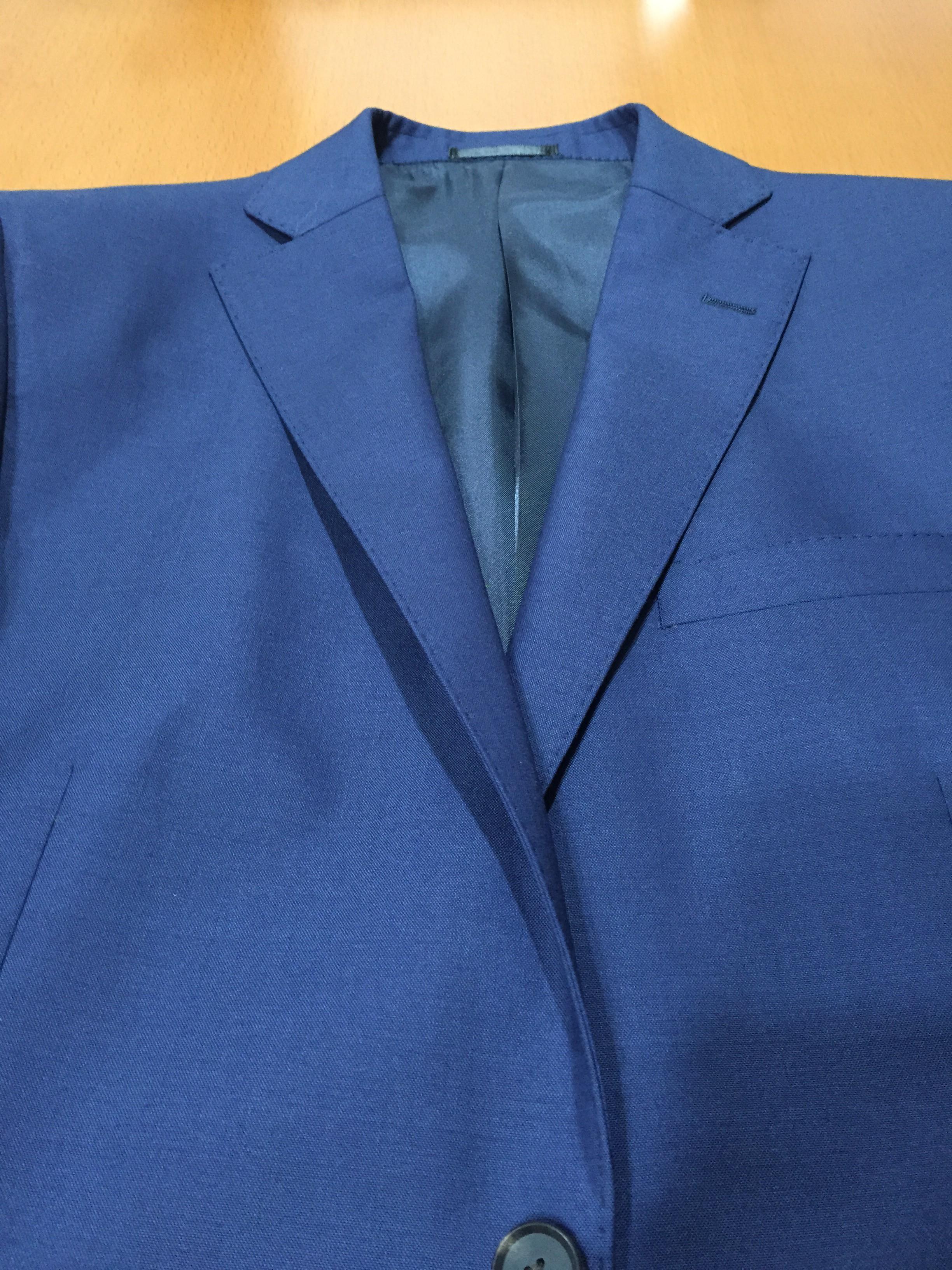 スーツのパーツを覚えておきましょう ステッチと本切羽