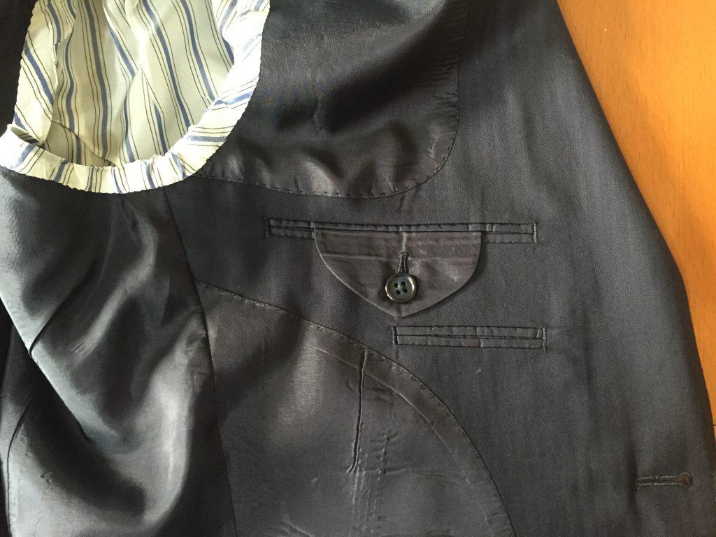 スーツの内ポケットの台場仕立のお話