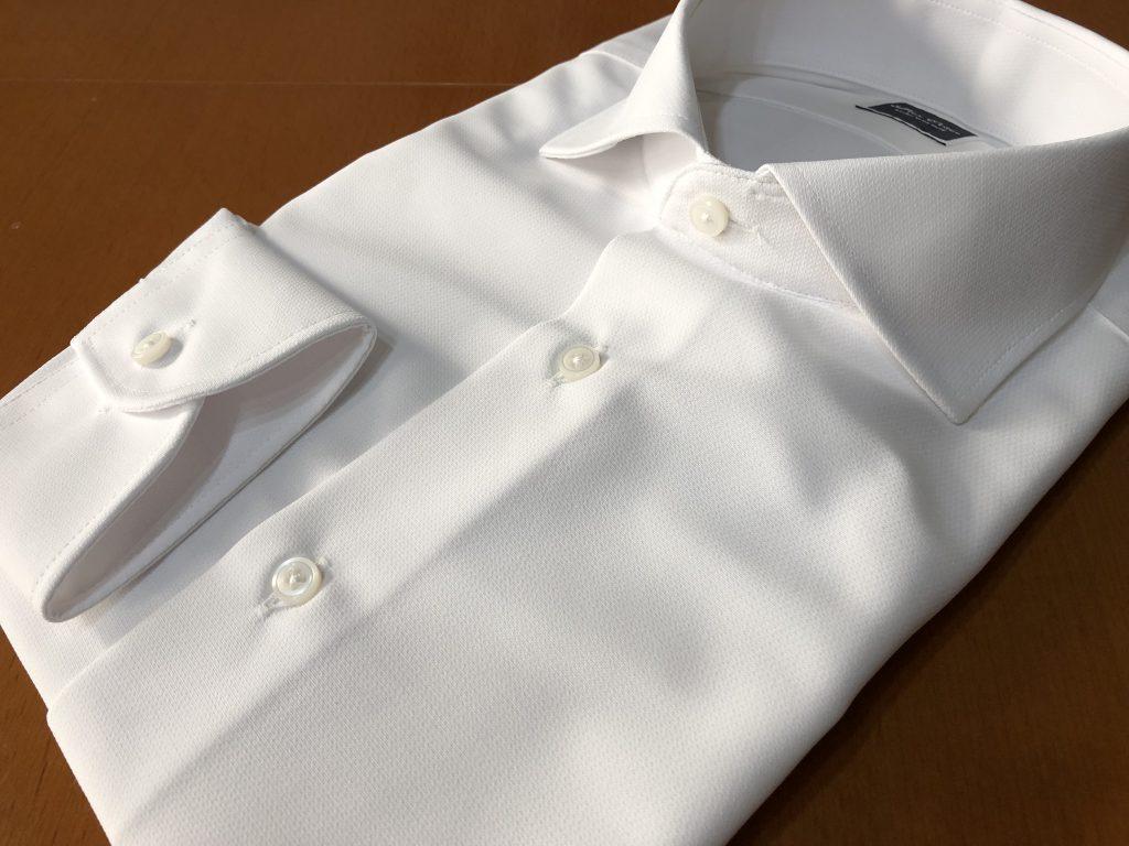 超絶快適なストレッチの効いたニット素材のオーダーシャツ