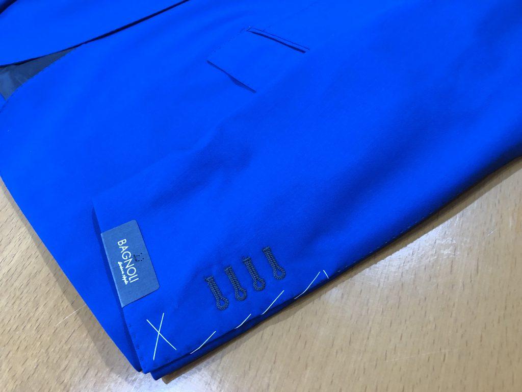 ジャケットの袖丈のお直し方法のご紹介
